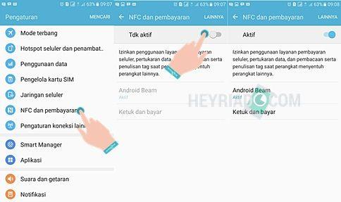 Cara Mengaktifkan NFC di Samsung Galaxy