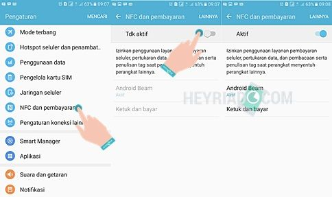 untuk mengirim dan mendapatkan file maupun data Cara Mengaktifkan & Menggunakan NFC Samsung Galaxy