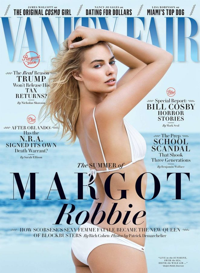 Margot Robbie shows swim looks for Vanity Fair August 2016
