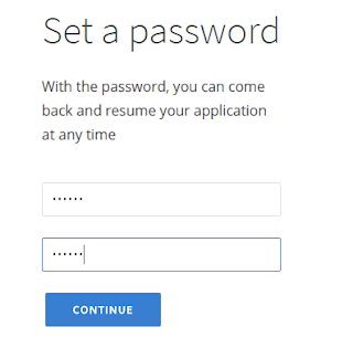 Set a password to open an account