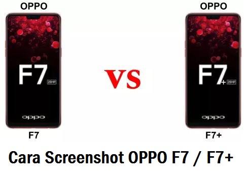 cara screenshot layar OPPO F7 dan F7 Plus