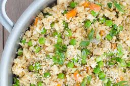 easy vegan cauliflower fried rice