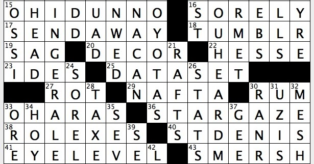 Rex Parker Does the NYT Crossword Puzzle: Give up out of