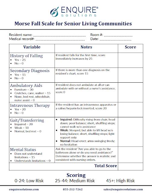 form Morse Fall Risk