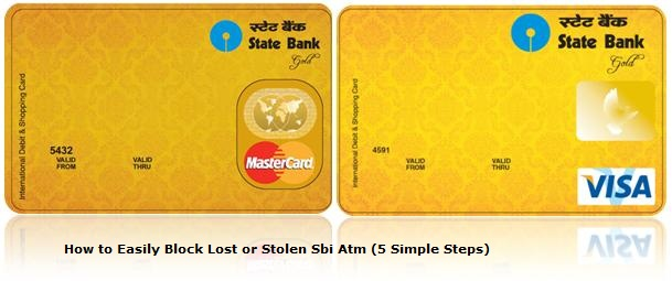 How to block SBI ATM Card in india