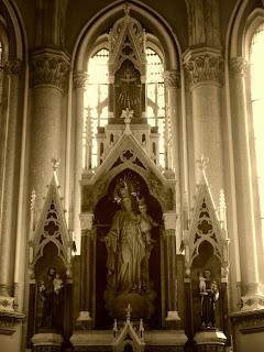 Imagem de Nossa Senhora, na Catedral de Vacaria