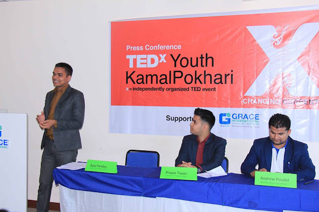 Ajay Pandey, Co-Organizer of TEDxYouth@KamalPokhari speaking about event.