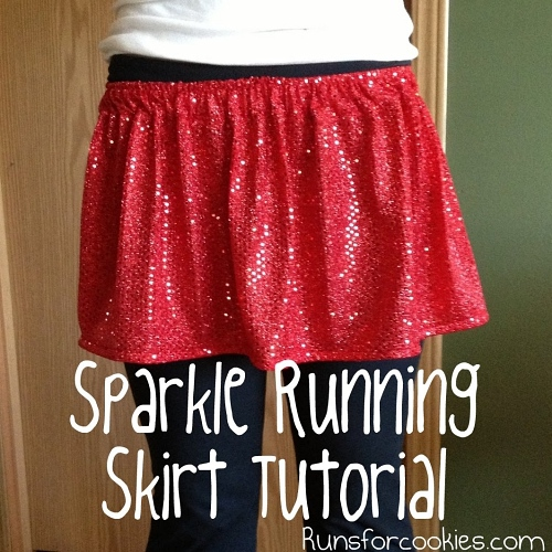 Handmade sparkle running skirt