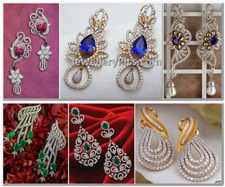 Dangling diamond earrings by Kalyan jewellers - Latest ...