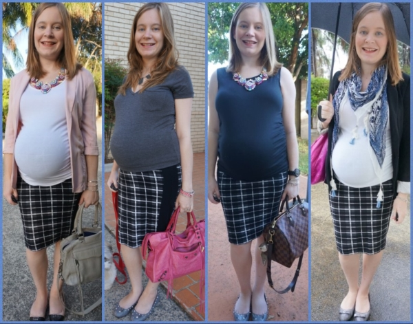 AwayFromBlue | ASOS tartan check maternity pencil skirt 4 ways