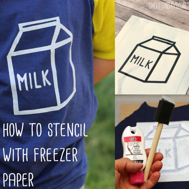 Learn how to stencil with freezer paper. Tutorial by Swoodson Says.