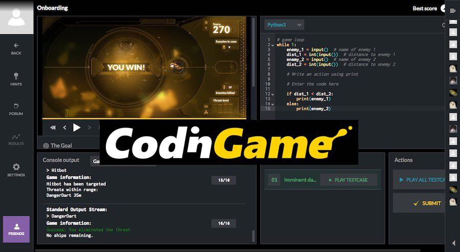CodinGame sitio web