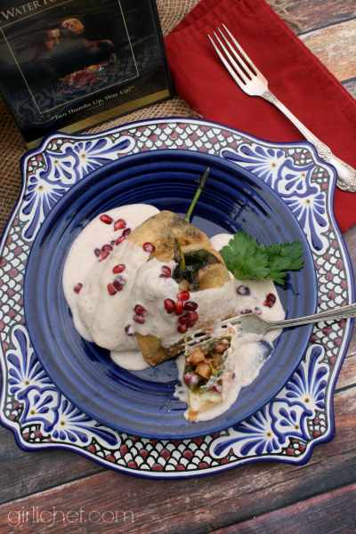 Chiles en Nogada (Chiles in Walnut Sauce) inspired by Like Water for Chocolate for Food 'n Flix