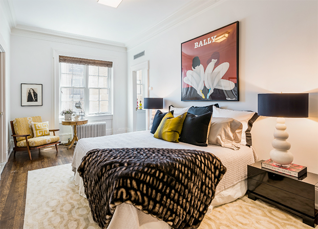 El dormitorio de Uma Thurman