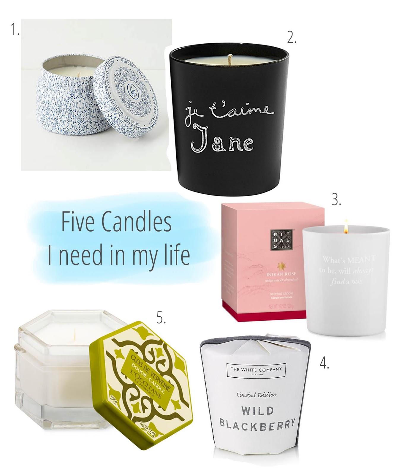 candles, rituals, loccitane, bella freud