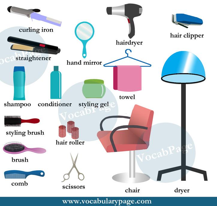 hairdresser vocabulary esl