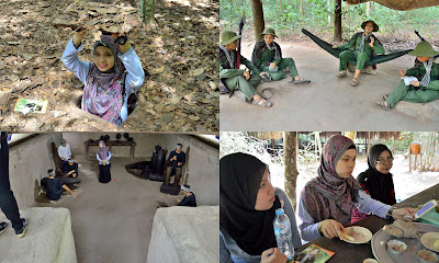 cu chi tunnel terowong activity aktivity vietnam