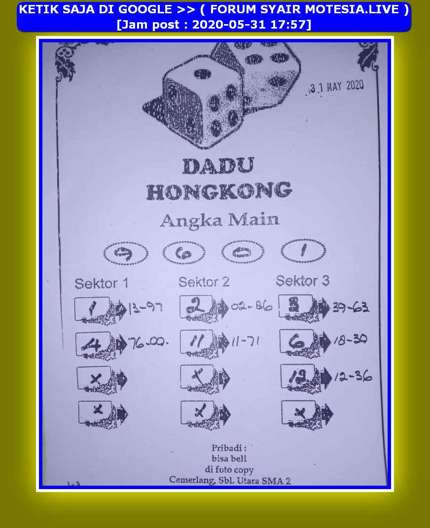 Kode syair Hongkong Minggu 31 Mei 2020 59