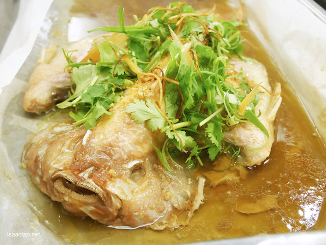 Steamed Talapia in Garlic Soy Sauce