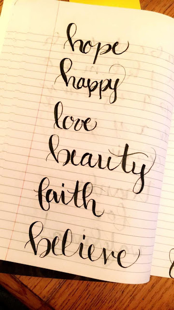 Bullet Journal Brush Lettering  justmelsdotcom