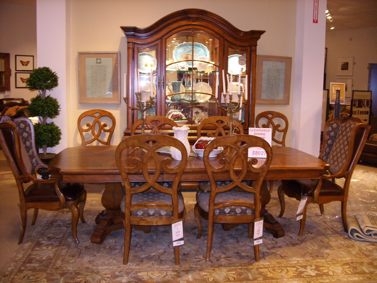 discontinued dining room chairs chair covers hire shropshire thomasville furniture bed