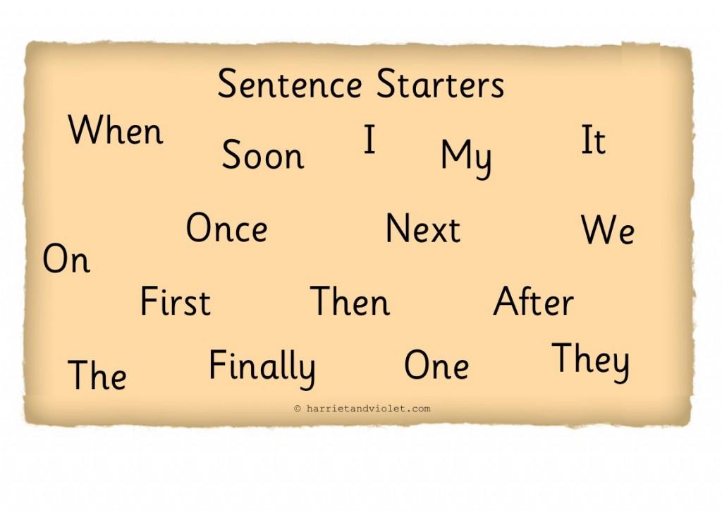 room1819@frimley: Sentence Starters Workshop