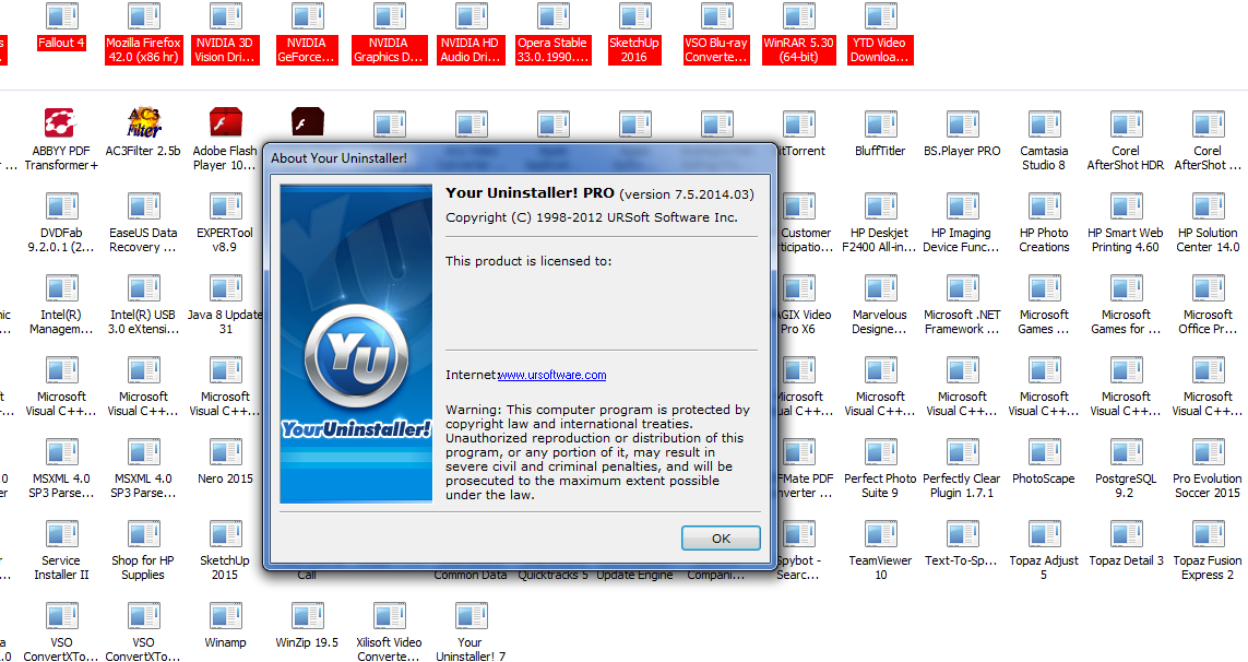 your uninstaller pro 7 + serial