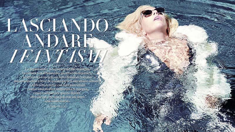 Lady Gaga en couverture du Vanity Fair italien du mois décembre 2016, par Collier Schorr.