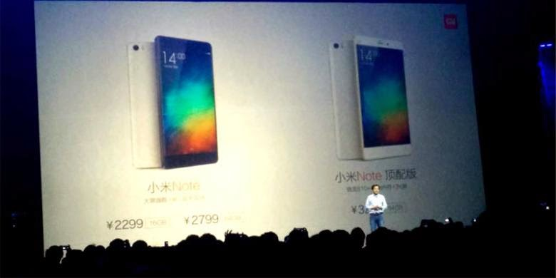 New Product : Xiaomi Mi Note and Mi Note Pro