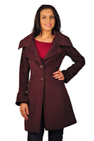 Pardesiu grena din stofa de lana D1824 (Ama Fashion)