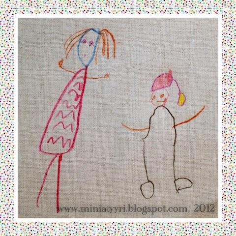 Muodikas tyttö ja joulutonttu - Fashionable girl and a Christmas elf | Miniatyyria