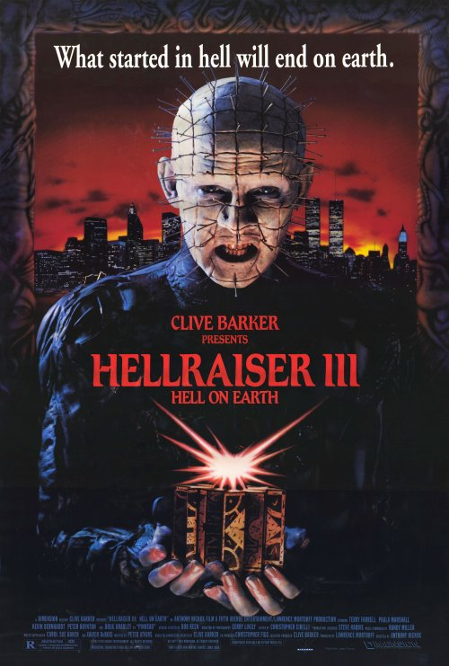Hellraiser 3 movie poster