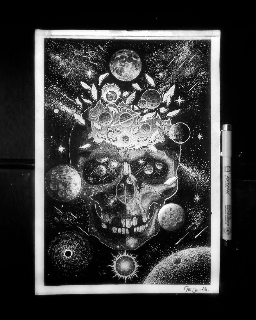 08-Power-and-Knowledge-G-A-Yuangga-Fineliner-Stippling-Drawings-www-designstack-co