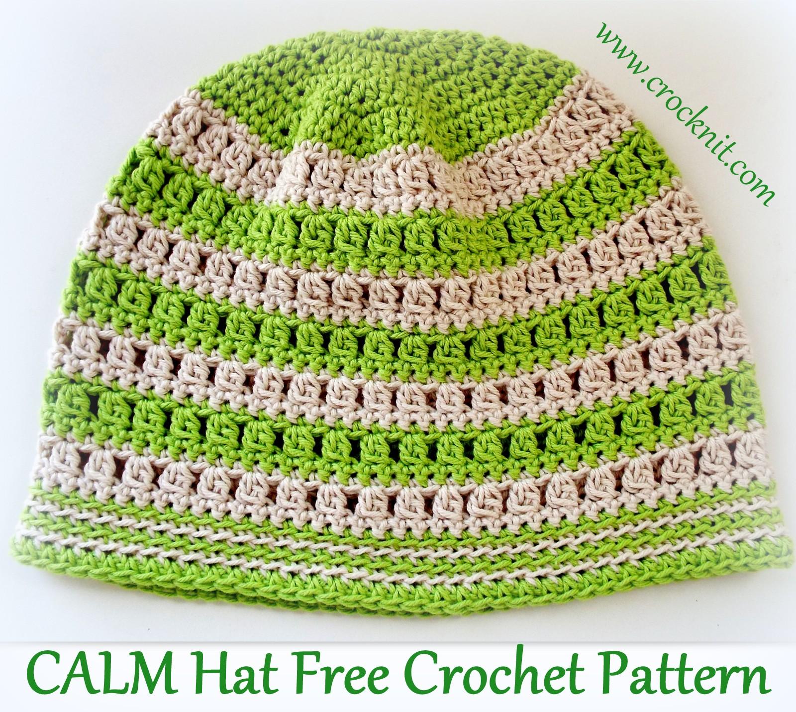 MICROCKNIT CREATIONS  SLEEP Hats Free Crochet Pattern  4 CALM HAT a4116b7ff0c