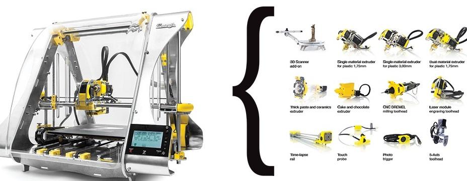 Diy 3d Printing Zmorph 2 0s 12 Toolhead 3d Printer