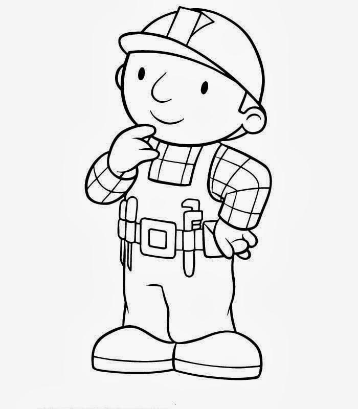 Desenhos : Desenhos De Bob O Construtor Para Colorir E