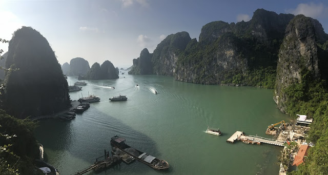 Admire the panoramic beauty of Halong Bay