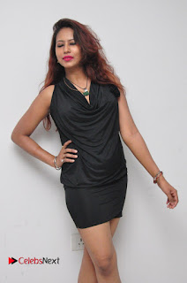 Model Sonia Pictures in Black Dress at Yes Mart Event  0013