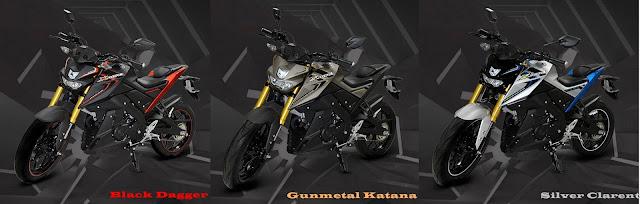 Pilihan Warna Yamaha Xabre 2016 - Black Dagger - Gunmetal Katana - Siver Clarent