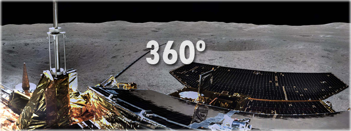 primeira foto panorâmica do Lado Oculto da Lua