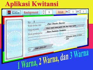 aplikasi kwitansi excel dengan 3 warna - software kuitansi gratis