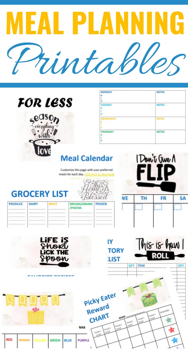 Meal Planning printables and slow-cooker recipes