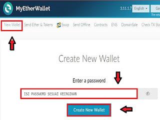 Membuat wallet di myetherwallet