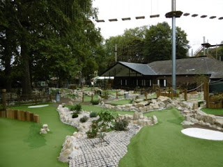Photo of the Putt In The Park Mini Golf course at Battersea Park in London