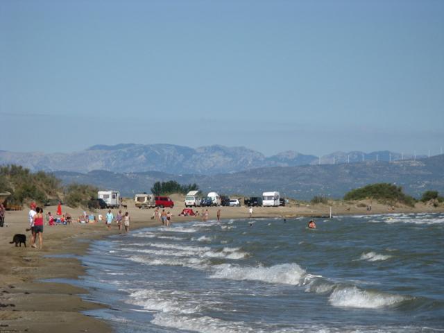 Vista de la platja de Riumar.