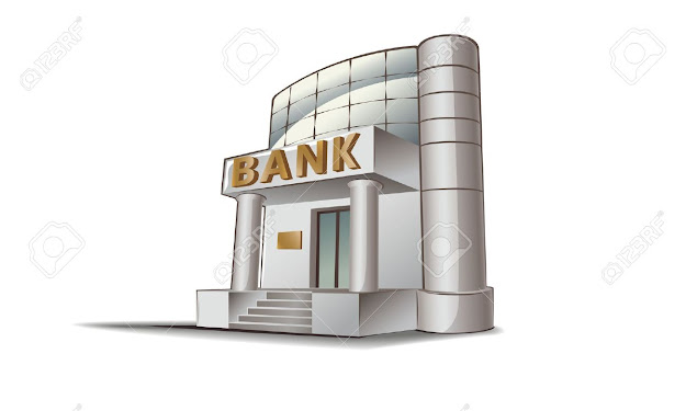 Bank Building Illustration Financial Theme Stock Vector