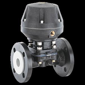 pneumatically operated diaphragm valve industrial valve