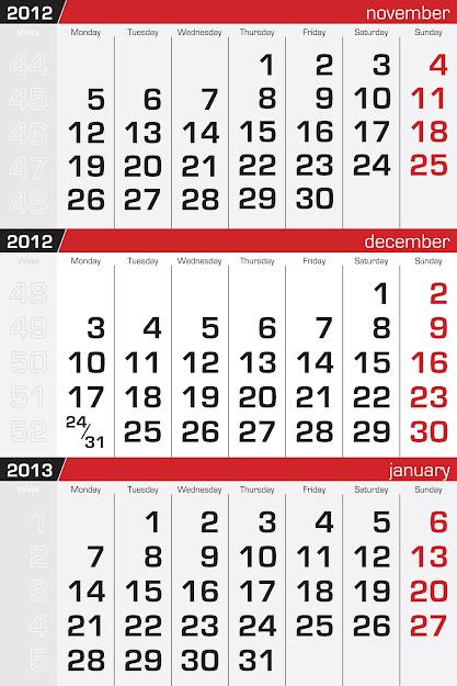 Free Vector  Calendar Vector