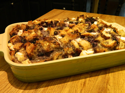 Blueberry breakfast strata