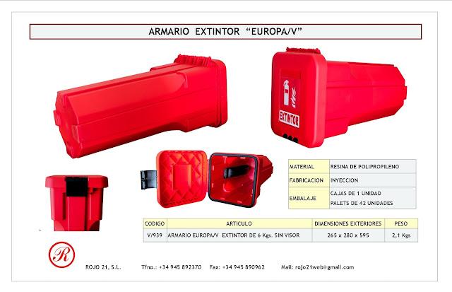Armario paraextintor EUROPA/V horizontal